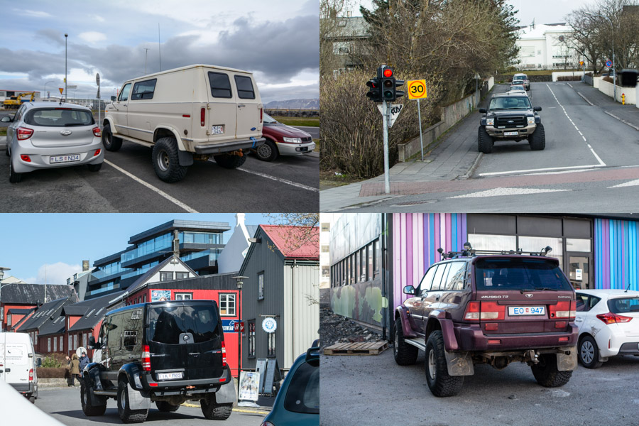Big trucks in Iceland
