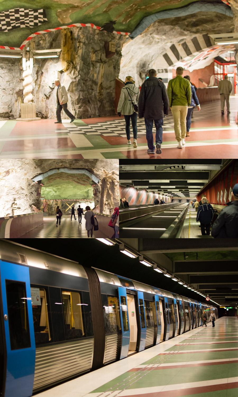 Stockholm's Kungsträgården Metro Station