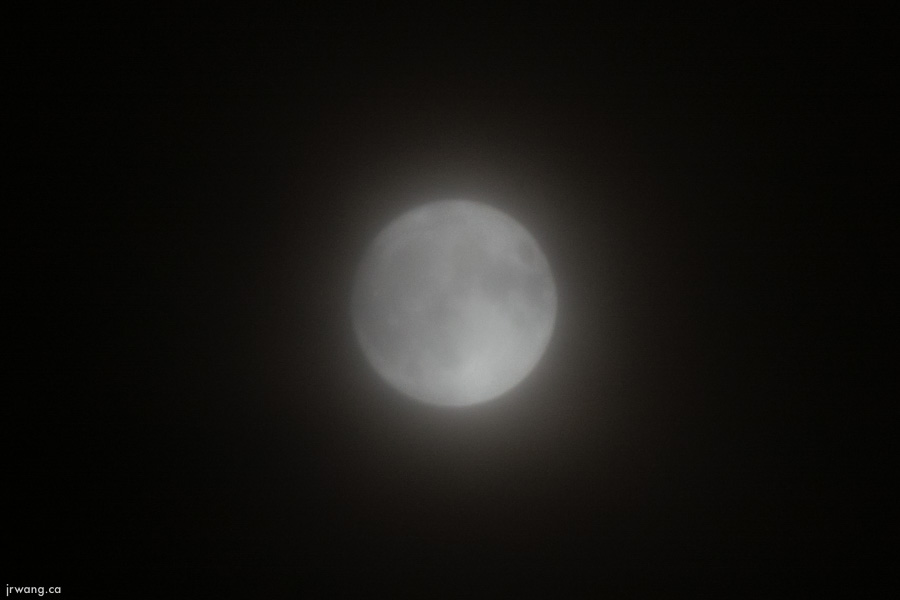 Cloudy Supermoon